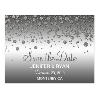 Cute winter wedding save the date postcard