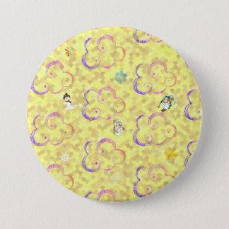 Cute Winter X-mas Pattern B 3 Inch Round Button