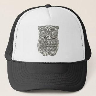 Cute wise grey owl hat