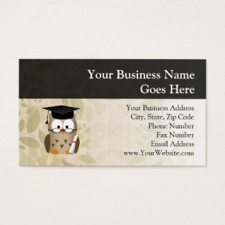 Cute Wise Owl Graduate Business Card