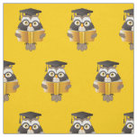 Cute Wise Owls with Glasses and Books Fabric