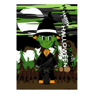 Cute Witch Halloween Bookmark Large Business Card