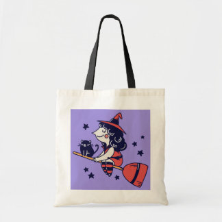 Cute Witch Halloween tote bags
