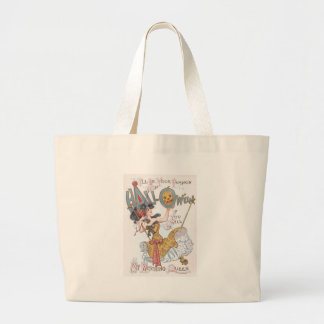Cute Witch Jack O' Lantern Pumpkin Swing Large Tote Bag