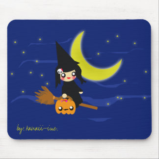 Cute witch mousepad! mouse pad