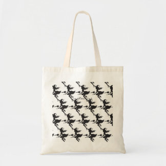 Cute Witch Riding Broom Thunder_Cove Tote Bag