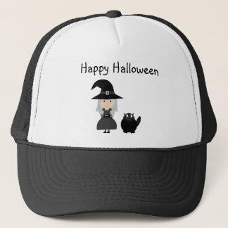 Cute Witch, Spider & Cat Halloween Cap