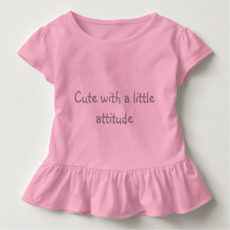 Cute with attitude tshirt for toddlers
