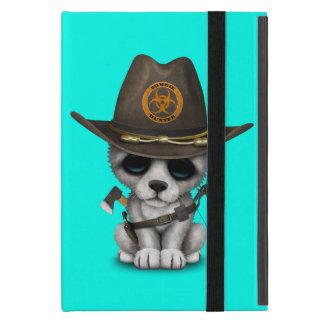 Cute Wolf Cub Zombie Hunter iPad Mini Cover