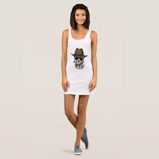 Cute Wolf Cub Zombie Hunter Sleeveless Dress
