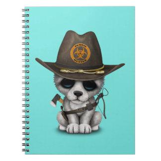 Cute Wolf Cub Zombie Hunter Spiral Notebook