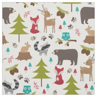 Cute Woodland Animal Fabric
