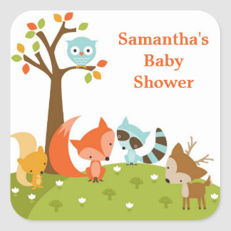 Cute Woodland Animal Stickers