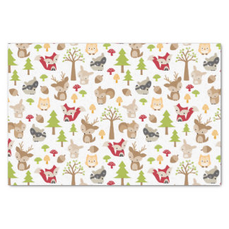 Cute Woodland Animals Tissue Paper