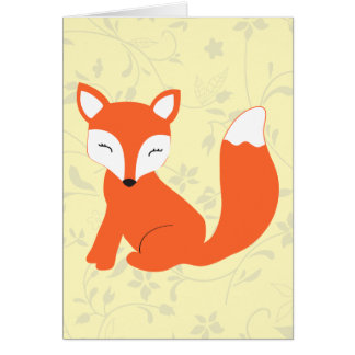 Cute Woodland Baby Fox Greeting Card