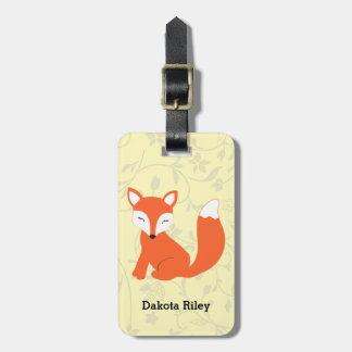 Cute Woodland Baby Fox Luggage Tag