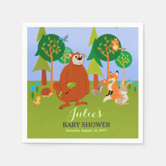 Cute Woodland Critters Disposable Napkins