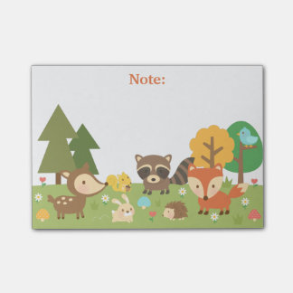 Cute Woodland Forest Animals and Creatures Post-it® Notes