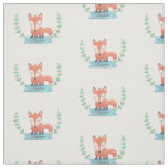 Cute Woodland Fox Kids Personalized Fabric