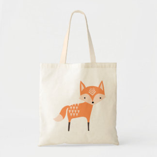 Cute Woodland Fox Tote Bag
