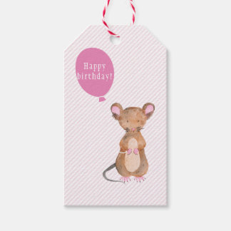 Cute Woodland Mouse Birthday Gift Tags Pack Of Gift Tags