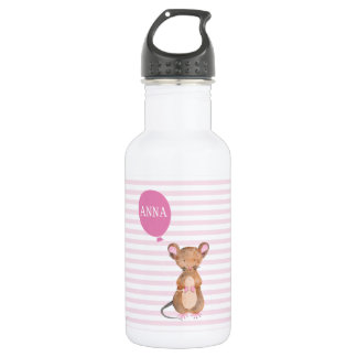 Cute Woodland Mouse | Personalized 532 Ml Water Bottle