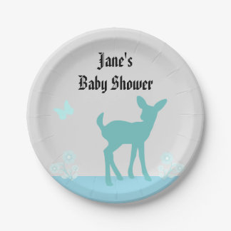 Cute Woods Themed Baby Shower Plate
