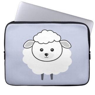 Cute Wooly Lamb Face Laptop Sleeve