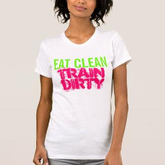 Cute Workout Eat Clean Train Dirty Racerback Tank
