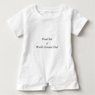 Cute World's Greatest Dad Elegant Typography Baby Romper