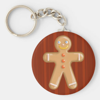 Cute xmas gingerbread man cookie keychain