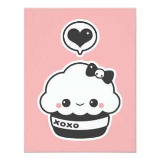 Cute XO Cupcake Birthday Party Invitations