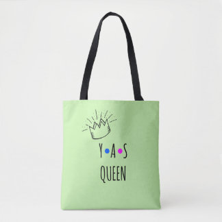 Cute YAS QUEEN Body Positivity Tote Bag
