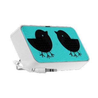 Cute Yatagarasu (black) iPod Speaker