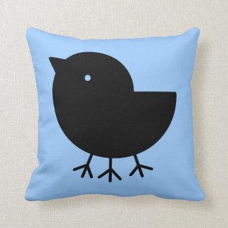 Cute Yatagarasu(black)(square) Throw Pillow