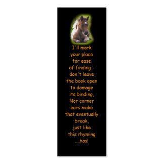 Cute Yearling Foal bookmarks Business Card Templates