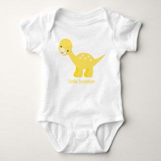 Cute Yellow Baby Dinosaur Baby Bodysuit