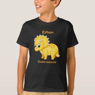 Cute Yellow Baby Triceratops Dinosaur T-Shirt
