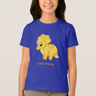 Cute Yellow Baby Triceratops Dinosaur T-Shirt