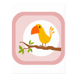 Cute Yellow Bird Postcard