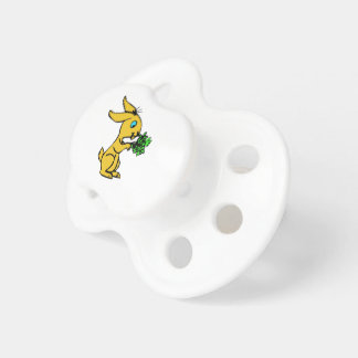 Cute Yellow Bunny for Lovely Happy Easter Baby Pacifiers