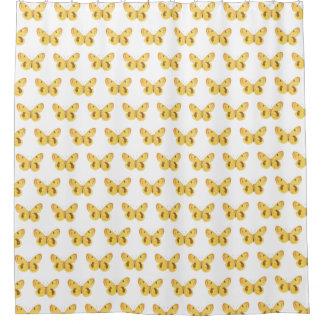 Cute Yellow Butterflies Pattern Shower Curtain