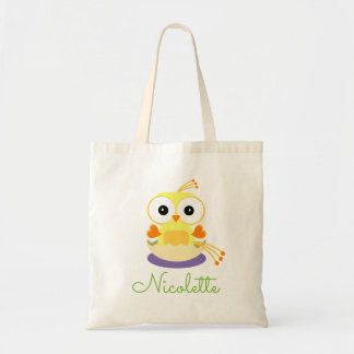 Cute Yellow Cartoon Baby Bird -  Gender Reveal Tote Bag