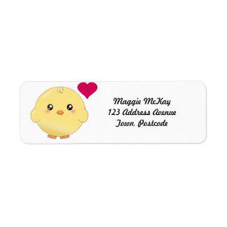 Cute yellow chick