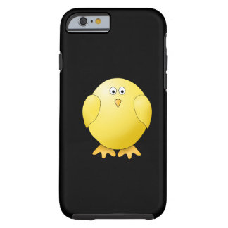 Cute Yellow Chick. Little Bird on Black. Tough iPhone 6 Case