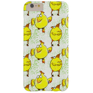 Cute yellow chicken doodle character barely there iPhone 6 plus case