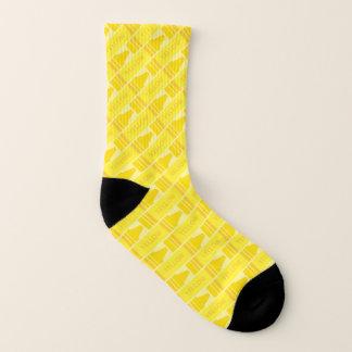Cute Yellow Crayon Patterned Socks 1