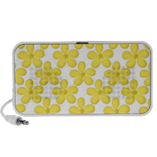 Cute Yellow Daisey Design Mp3 Speakers