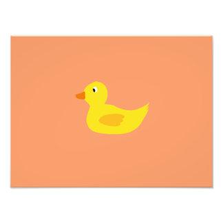 Cute yellow duck photo