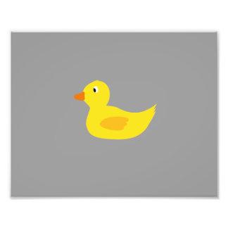 Cute yellow duck photo print